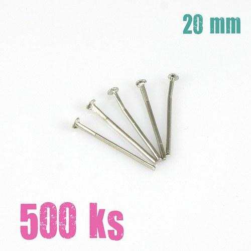 Ketlovací nýty platinové 20 mm, 500 ks