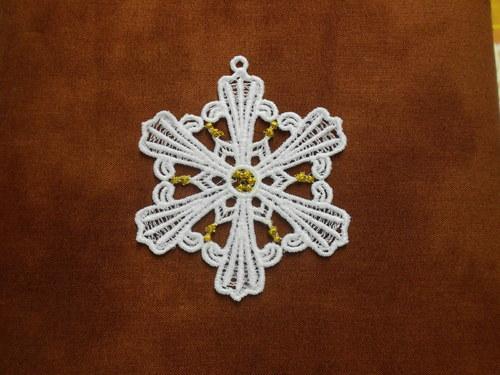Vánoční ozdoba - sněhová vločka bílá AP1684009