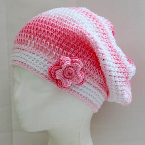 ... růžovo-bílá s kytkou ...