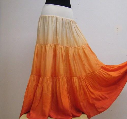 Zralé meruňky...dlouhá hedvábná sukně