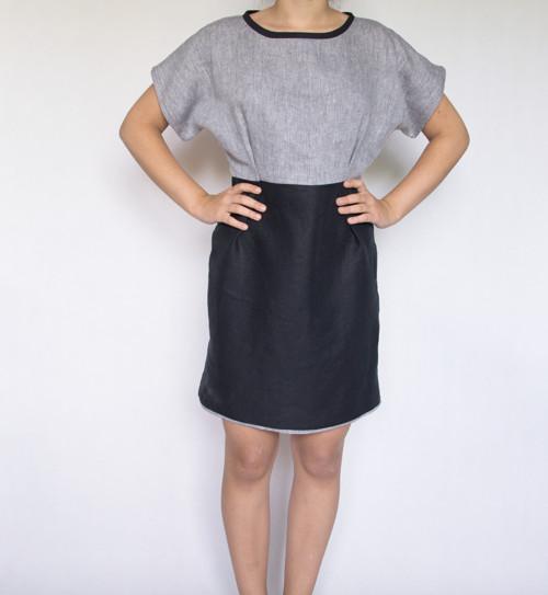 Lněné šaty vel.S (36-38) SLEVA