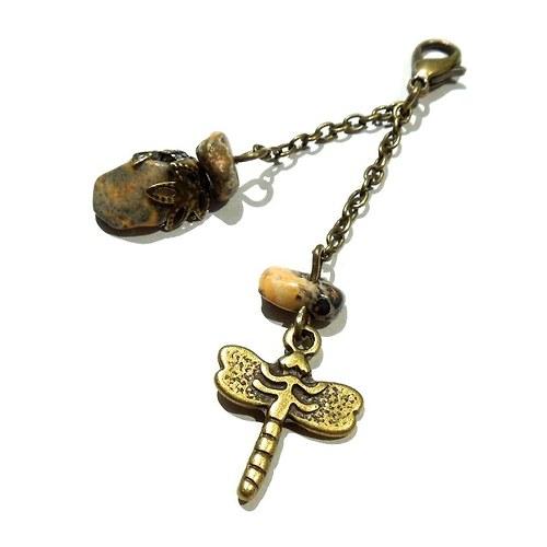 Amulet Vážka s jaspisem