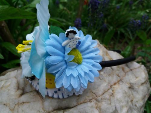 Květinová čelenka-panenka