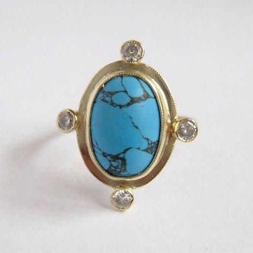 Maharádžův sen (prsten; Au 585/1000; 4,05 g)