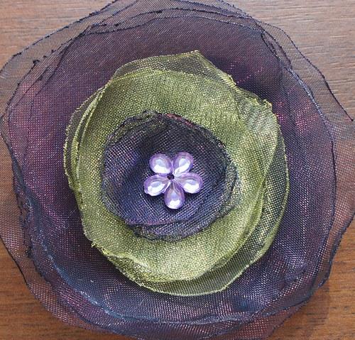 Květinová brož, velká - 05