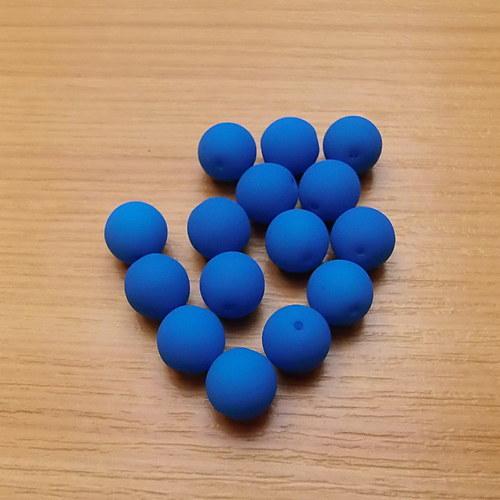 Neonové kuličky 8mm - modré