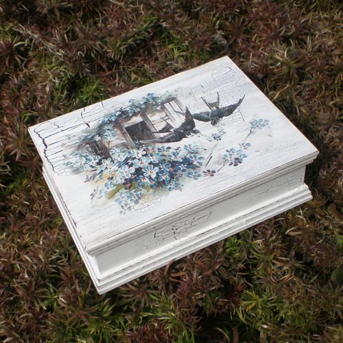 Krabička s frézovanými okraji – vlaštovky