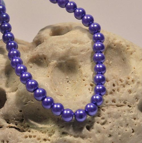 33. Voskové perle 4 mm/30ks/ modrofialová