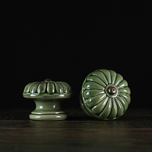 úchyt - knopek zelený - vzor č. 5 VELKÝ