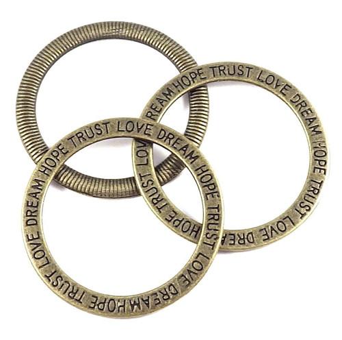 Přívěsek nebo mezidíl - velký kruh s nápisem