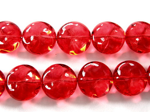 0300932/Placička s hrboly červená, 6 ks