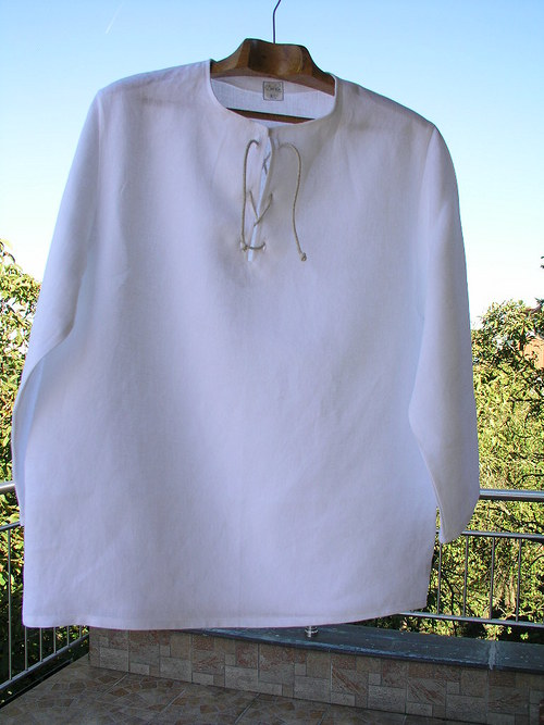 Pánská lněná košile ze 100% lnu L -XL