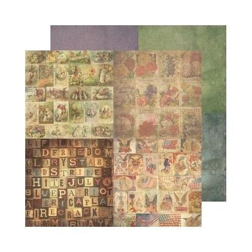 60. Oboustranný papír na scrapbooking 30,5 x 30,5
