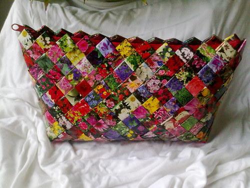 Recy taška květinová - na objednávku
