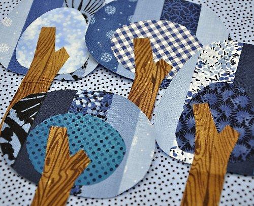 Ranní jiskření - textilní nažehlovací obrázky