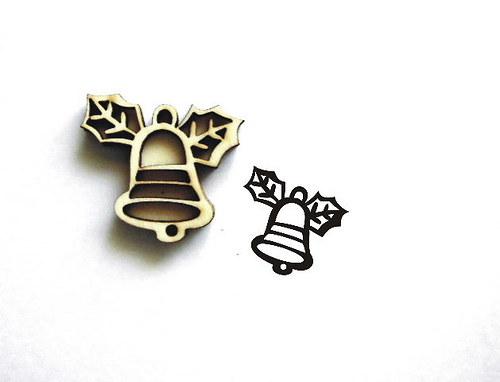 Razítko překližka zvoneček-v.3x3,4cm