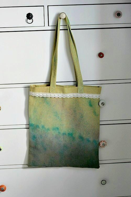 plátěná ručně barvená taška no. 1