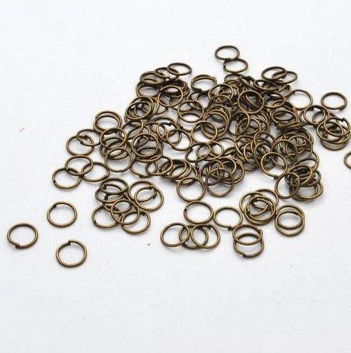 Spojovací kroužek 100 ks / 8 mm / antik bronz