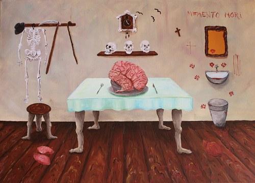 Zátiší s mozkem