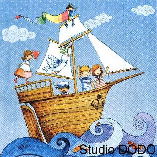 Ubrousek Děti na lodi