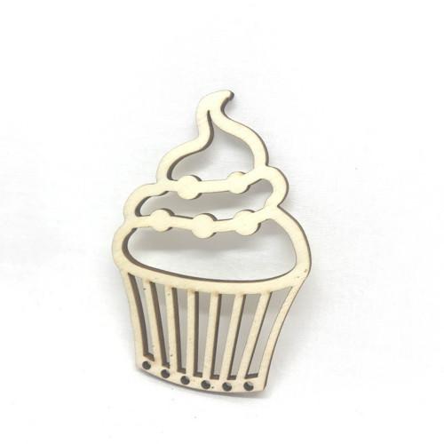 Cupcake - dřevěná dekorace - 211a