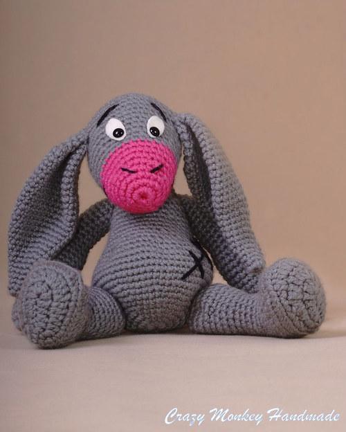 Oslík Bertík - šedý - 28 cm