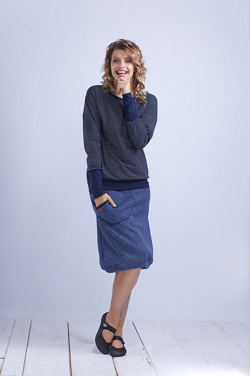 Shirt or Sweatshirt Blue/White Thin Stripes