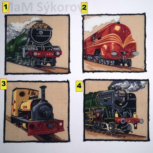 Nažehlovací aplikace lokomotivy v rámečku II