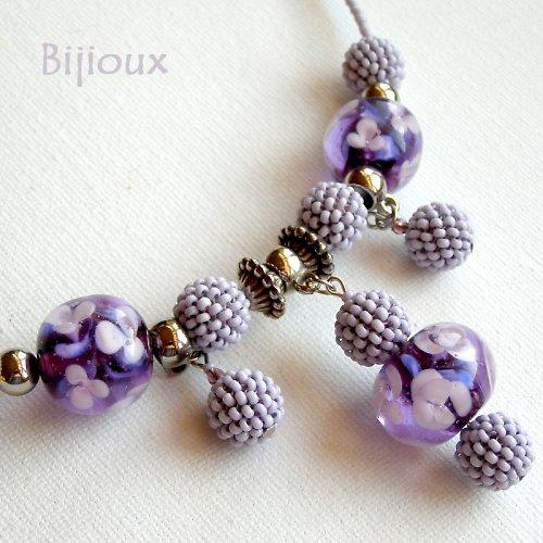 Mražená borůvková zahrada - náhrdelník
