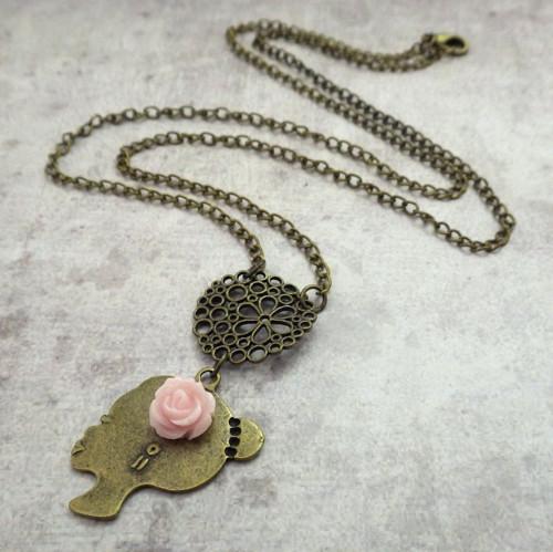 Lady in pink - náhrdelník