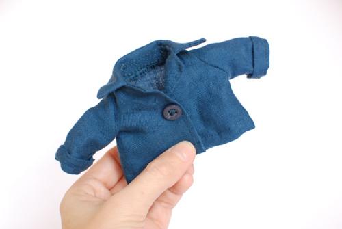 Košile modrá lněná