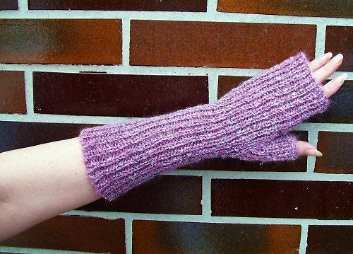 Pletené návleky na ruce - mohér