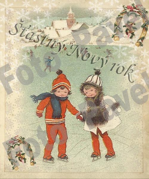 Vintage motiv - vánoce - Nový rok 4