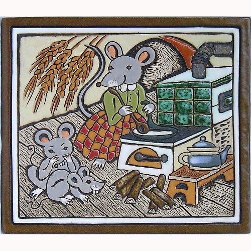 Keramický obrázek - Myšky K-117-B