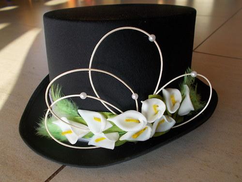 Cylindr s kalami pro ženicha bílý nebo černý