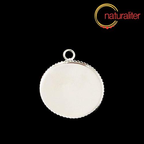 Lůžko kruh 20mm stříbrná barva, tenké