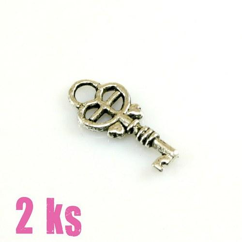 Přívěsek - klíček 18 mm, 2 ks