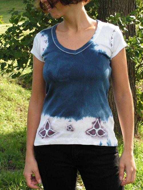 Batikované a malované tričko