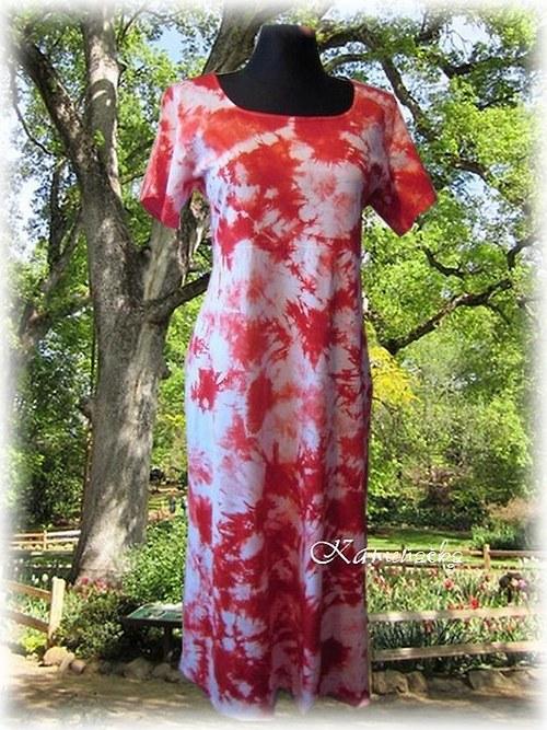 Dámské šaty červené do vel. 7XL