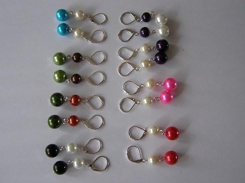 Perličkové naušnice - 22 barev -nespočet kombinací