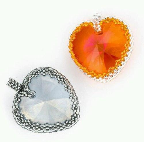 Zamilovaný Swarovski v oranžovém