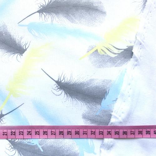 Bavlněný úplet, peříčka / 0,5 m