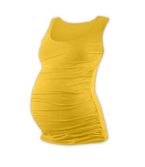 Těhotenské tričko bez rukávu žluté