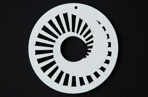 dřevěné kolečko 60 mm- bílé