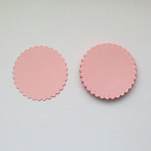 Výsek - Zoubkované kruhy 6cm - sada 10ks