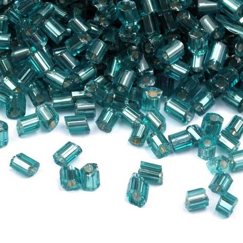 Rokajl skleněný sekaný modrozelený - 10 g