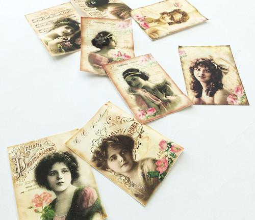 Ženy 8 kusů - nažehlovací textilní obrázk