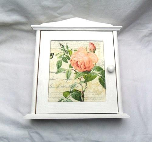 Sříňka na klíče růže