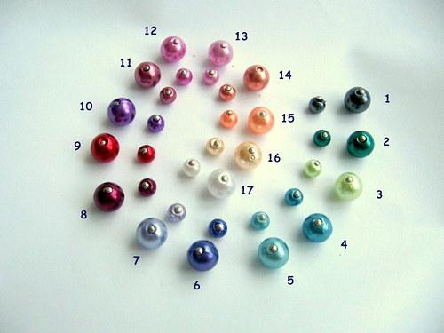 Voskové korálky - 5 mm- 17 barev / bal. 30 ks