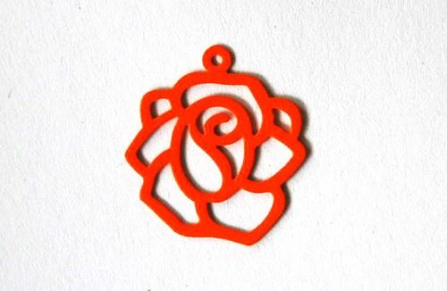 Růže oranžová18x20mm